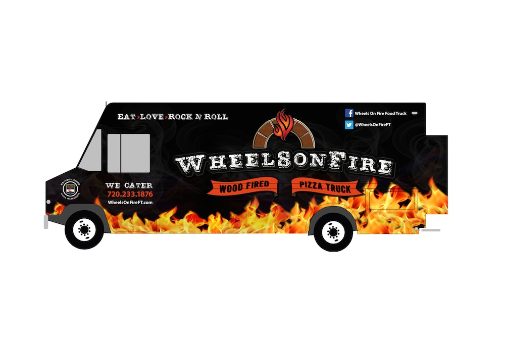 wheels on fire pizza truck newest member of denver s food truck